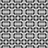 Abstract seamless pattern background. Maze of black geometric design elements isolated on white background. Vector Royalty Free Stock Photos