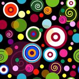 Abstract seamless pattern with balls royalty free illustration