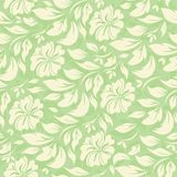 Abstract seamless pattern with beautiful green floral background Royalty Free Stock Photography