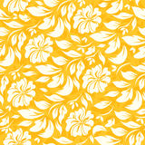 Abstract seamless pattern with beautiful yellow floral background Royalty Free Stock Photography