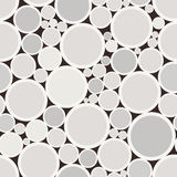 Abstract seamless pattern with beige circles. Vector illustration. Stock Photos