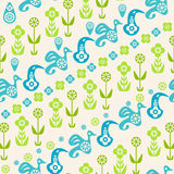 Abstract seamless pattern of birds Stock Image