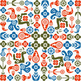 Abstract seamless pattern of birds Royalty Free Stock Images