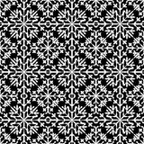 Abstract seamless pattern in black&white color for endless backg Stock Photo