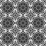 Abstract seamless pattern in black Royalty Free Stock Photo