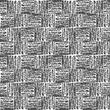 Abstract seamless pattern in black and white colors, vector illustration. Royalty Free Stock Photography