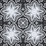 Abstract seamless pattern. Black and white floral openwork seamless ornament, EPS8 - vector graphics Royalty Free Stock Photography