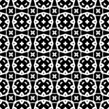 Abstract seamless pattern in black and white. Royalty Free Stock Photography