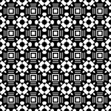 Abstract seamless pattern in black and white. Stock Photography
