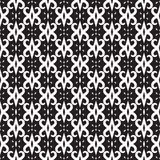 Abstract seamless pattern in black and white. Stock Photos