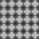 Abstract seamless pattern in black and white. Stock Photo