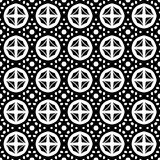 Abstract seamless pattern in black and white. Stock Images