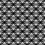 Abstract seamless pattern in black and white. Royalty Free Stock Photo