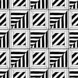 Abstract seamless pattern. Black and white illustration for coloring books. Background for design Royalty Free Stock Photos