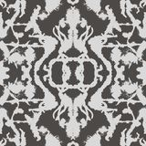Abstract seamless pattern. Black and white mirrored, symmetrical repeat pattern illustration. Perferct for gift, wallpaper, fabric and background stock illustration