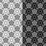 Abstract seamless pattern. Black and white set Royalty Free Stock Image