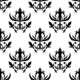 Abstract seamless pattern. Black and white vector Royalty Free Stock Images
