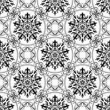 Abstract seamless pattern. Black and white vector Stock Photo