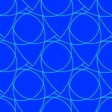 Abstract seamless pattern on the blue background Royalty Free Illustration