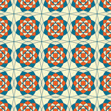 Abstract seamless pattern. Abstract seamless blue beige kaleidoscopic foral retro pattern Royalty Free Stock Images
