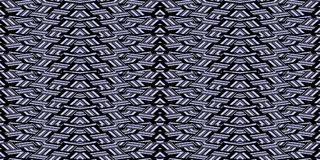 Abstract seamless pattern in blue and black black tones. Interlocking strips. Royalty Free Stock Photo