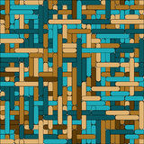 Blue-brown grid seamless Royalty Free Stock Photos
