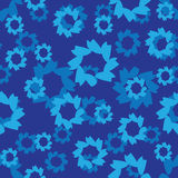 Abstract seamless pattern, blue color Royalty Free Stock Photos