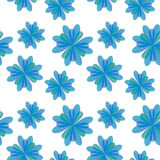 Abstract seamless pattern, blue color Stock Photography