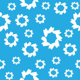 Abstract seamless pattern, blue color Stock Photos