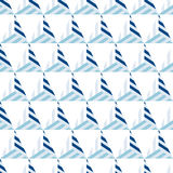Abstract seamless pattern of blue lines and triangles. Stock Images