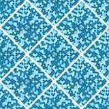 Abstract seamless pattern. Blue mosaic tiles. The geometric shape Royalty Free Stock Photos
