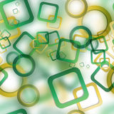 Abstract seamless pattern with blurred circles and squares Stock Photo