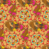 Abstract seamless pattern of the bodies of girls in bikinis Royalty Free Stock Images