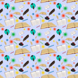 Abstract seamless pattern books Royalty Free Stock Photography
