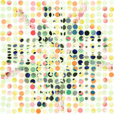 Abstract seamless pattern of bright colored dots.  Royalty Free Stock Photos