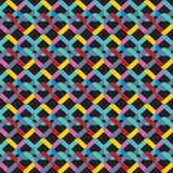 Abstract seamless pattern bright colored Geometric background rainbow color. Vector illustration Royalty Free Stock Photos