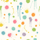 Abstract seamless pattern with bright colorful hand drawn blots Stock Photography