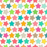 Abstract seamless pattern with bright colorful stars Stock Photography
