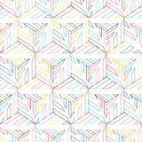 Abstract seamless pattern of bright edges and triangles. Royalty Free Stock Photography