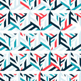 Abstract seamless pattern of bright lines and triangles. Stock Photos
