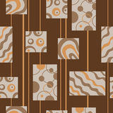 Abstract seamless pattern brown beige orange illustration Royalty Free Stock Photos
