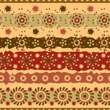 Abstract seamless pattern of brown floral elements Royalty Free Stock Photography