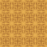 Abstract seamless pattern from brown lines - vector illustration Royalty Free Stock Photography