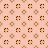 Abstract seamless pattern. Brown and pink. Stock Images