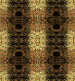 Abstract seamless pattern with brown stripes resembling snake skin Stock Photos