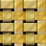 Abstract seamless pattern of brushed gold rods on a black background Royalty Free Stock Images