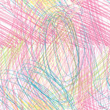Abstract seamless pattern Caotic lines color pencil drawing. Abstract line  seamless pattern. Chaotic lines background Use it for pattern fills, desktop Royalty Free Stock Image