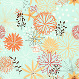Abstract seamless pattern. Cartoon flowers in vector. Texture can be used for wallpaper, pattern fills, web page backgrounds, surface textures. Gorgeous stock illustration