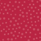 Abstract seamless pattern Christmas background of snowflakes on a red. For design of cards, invitations, greeting for the new year. Vector illustration Stock Images