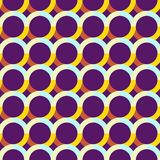 Abstract seamless pattern with circles. Bright saturated colors. Interlacing of geometric shapes Stock Image